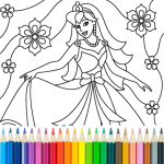 Princess Coloring Game (MOD, Unlimited Money) 13.4.6