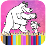 Coloring Book For Kids : Little Girl and Bear (Mod) 1.14