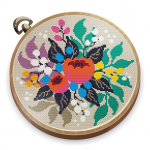Cross Stitch Club Color by Number with a Hoop Mod