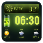 Weather Forecast Widget with Battery and Clock (Mod) 16.6.0.50066