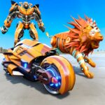 Lion Robot Transform Bike War : Moto Robot Games (Mod) 1.5